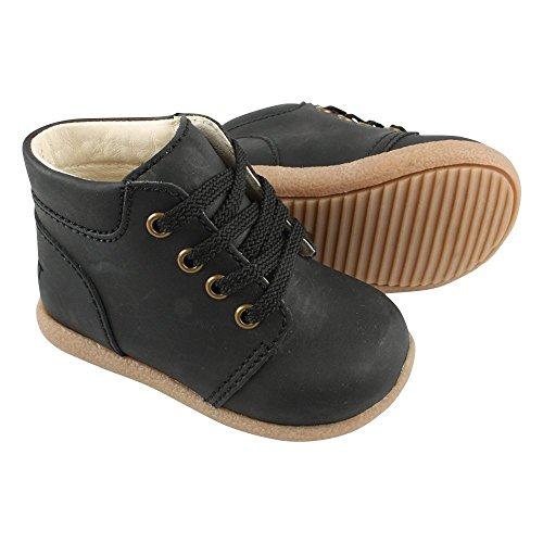 EN FANT Jungen Beginner Shoe Lace Bootsschuhe Schwarz (Black 00)