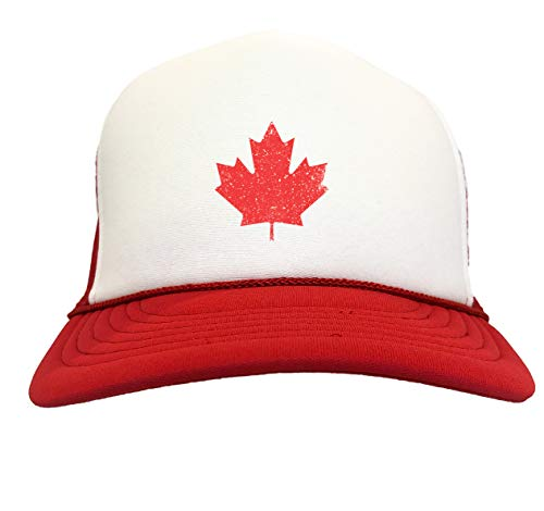 Canadian Maple Leaf - Canada Pride Two Tone Trucker Hat (Red/White)