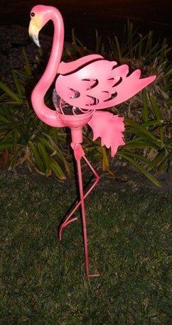 Solar Flamingo Light Garden Decoration with Crackle Glass Ball