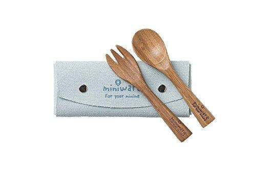 Miniware Natural Bamboo Cutlery Set, Fork and Spoon, Mao Bamboo