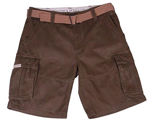 Nautica Men's Belted Cargo Shorts (32, Algae Green)