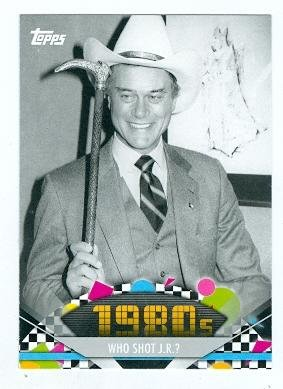 American Pie Card (Larry Hagman trading card (JR Ewing Dallas) 2011 Topps American Pie #140)