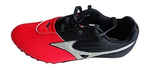 Mizuno velocidad picos 2005Track & Field Red/blacktrainers tamaño UK 9EU 43