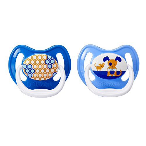 Dr. Browns PreVent Design Pacifier, Boys, Stage 2, 6-12 ...