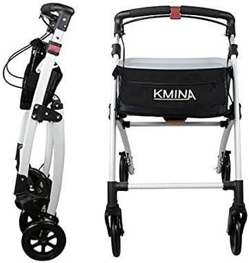 KMINA - Andadores ancianos plegable, Andadores adultos, Andadores ancianos con frenos, Andadores para mayores, PRO Negro