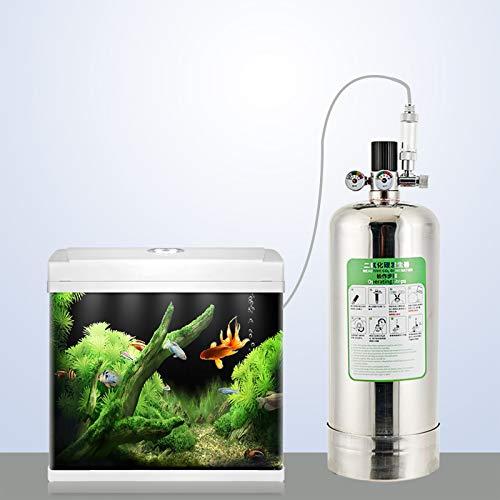 FZONE 2.5L Aquarium CO2 Generator System Carbon Dioxide Reactor Kit with Regulator And Needle Valve for Aquarium Plants Tanks