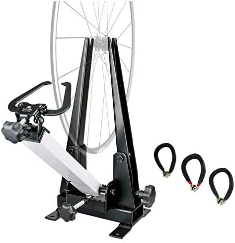 Bikehand Bike Wheel Professional Truing Stand Bicycle Wheel Maintenance – Great Tool for Rim Truing with Free Spoke Wrenches and Heavy Duty Base
