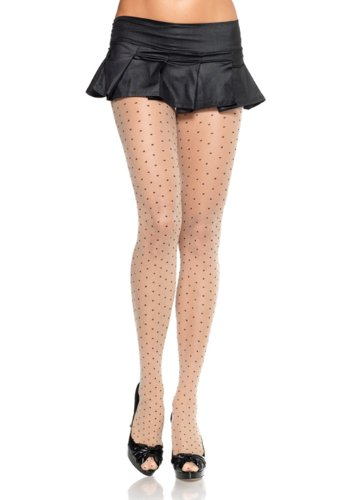 - LA9169 Sheer Pantyhose With Contrast Woven Dots