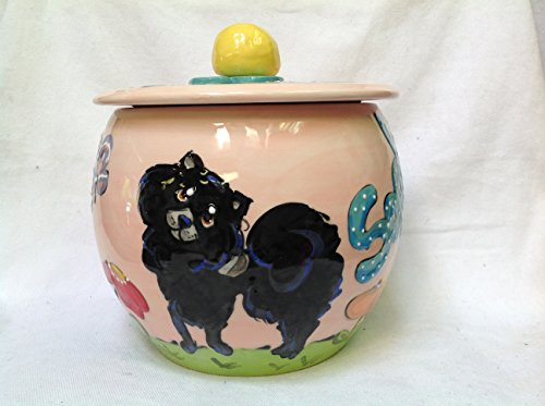 - Pomeranian Treat Jar, Personalized at no Charge. Signed by Artist, Debby Carman.