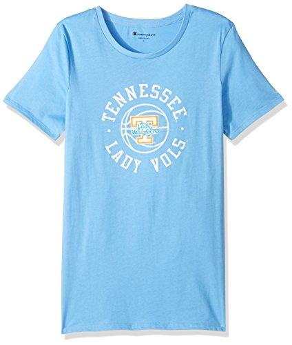 Lady Tennessee Vols T-shirts - Champion NCAA Tennessee Volunteers Women's University Local T-Shirt, Medium, Light Blue