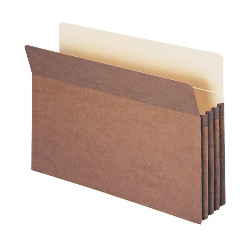 Smead File Pocket, Straight-Cut Tab, 3-1/2