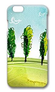 MOKSHOP Adorable Breath of spring landscape Hard Case Protective Shell Cell Phone Cover For Apple Iphone 6 (4.7 Inch) - PC 3D