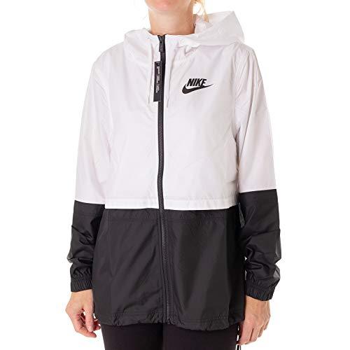 White Woven Jacke Damen Black Black Nike Black qt50x