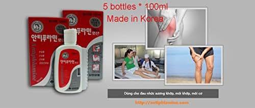 5 bottles * 100ml - Antiphlamine Korea Massage Oil 100ml - Relieve Pain KOREA