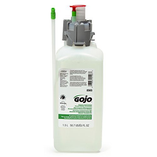 GOJO 856502CT CX & CXI Green Certified Foam Hand Cleaner, Unscented Foam, 1500mL Refill (Case of (Green Hand Cleanser)