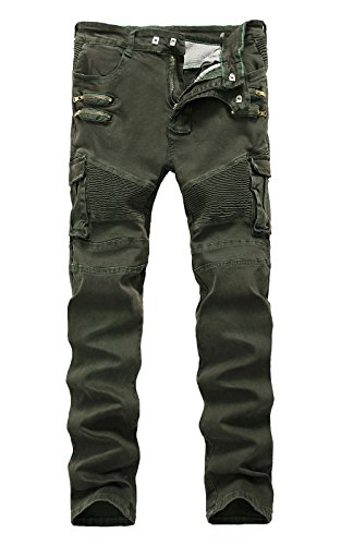 Olive Green Cargo Pants - 9