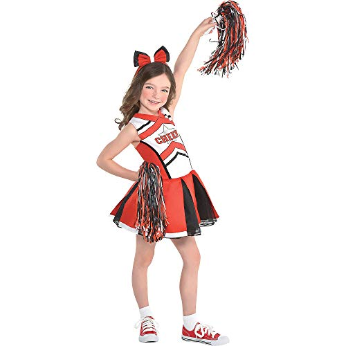 Suit Yourself Cheerleader Halloween Costume for Girls, Small, with Accessories -