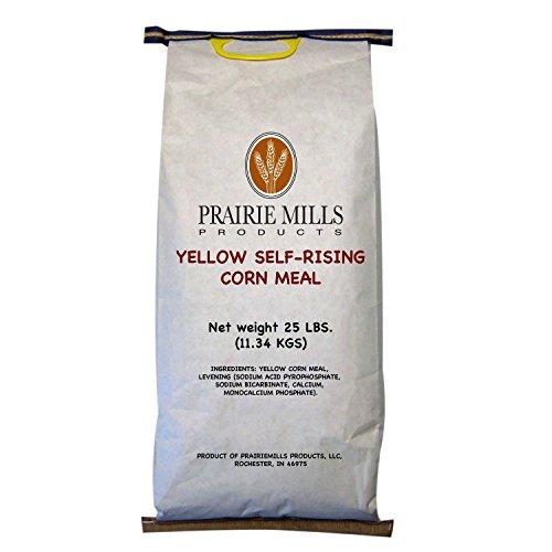 Prairie Mills Self-rising Yellow Corn Meal - 25 Lb. Bag - Bag Yellow Corn