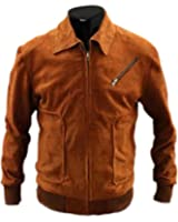The Man From U.n.c.l.e. Armie Hammer Suede Leather Jacket Brown