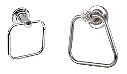 JaggerRod Napkin & Towel Ring Stainless Steel Chrome Finished (Pack Of 2)
