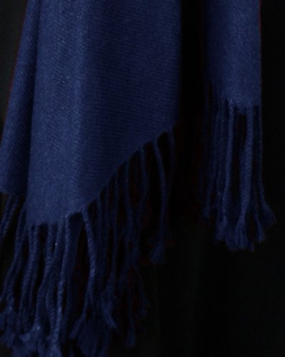Pure Cashmere Pashmina Shawl 3 Ply Midnight Blue