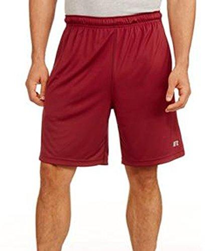 Mens Russell Dri Power Mesh Training Shorts (Extra-Large, Merlot)