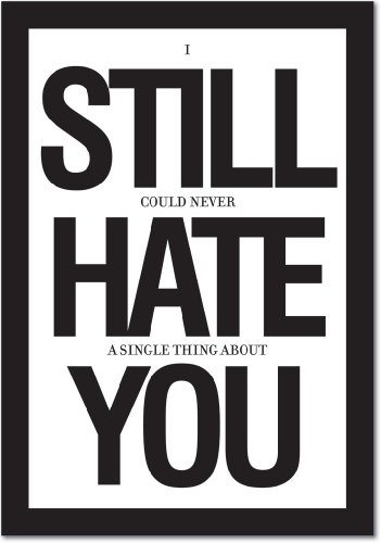 Funny Anniversary Card (8681Z 'Still Hate You' - Funny Anniversary Greeting Card with 5