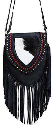 11sunshop BAG-OFIRA - Bolso de asas para mujer Negro negro M