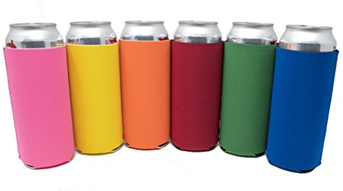 TahoeBay 16oz Can Sleeves - Multi Color Neoprene Beer Coolie