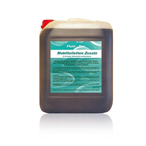 1 x 5 Liter Kanister Fluid-Tec Mobiltoiletten Zusatz*Sanitärflüssigkeit für Campingtoilette+Abwassertank*Abwasser-Zusatz*Konzentrat*PLUS 1 Auslaufhahn, made in Germany