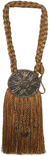 (India House 76727 Tieback Medallion Tassel, 9-Inch, Earthtone Mix)
