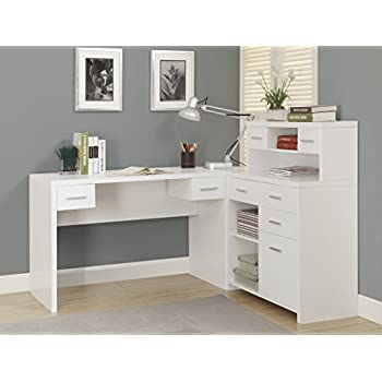 Amazon Monarch HollowCoreL Shaped Home Office Desk White Interesting Home Office Furniture Online Style Remodelling