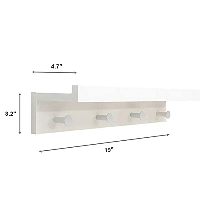 Amazon.com: Wall Mounted DIY Shelf Coat Hooks - Entryway ...