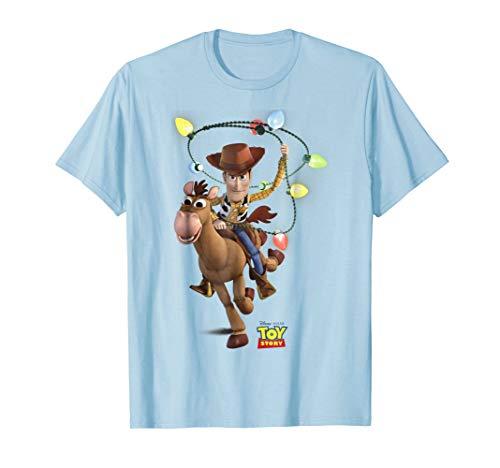 Christmas T Shirts With Lights (Disney Pixar Toy Story Woody Bullseye X-Mas Light)