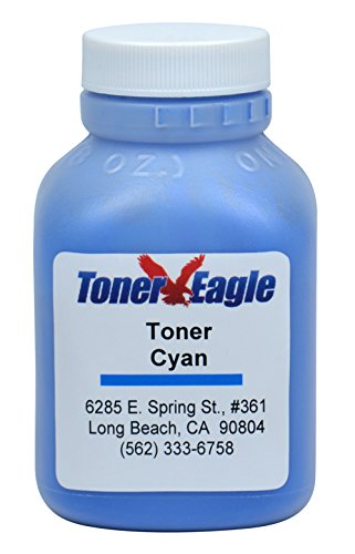 HP CM2320 MFP CM2320fxi CC531A Cyan Toner Refill Kit with Reset Chip. 80 Grams. By Toner Eagle (Cm2320 Cyan Toner Mfp)