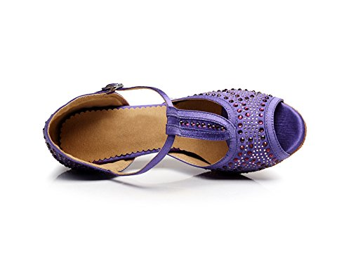 Satin Tango T Women's Miyoopark Latin strap KQJ7077 Purple Salsa Wedding Sandals xIq0w5B