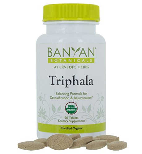 Daily Capsules Cleanse 90 - Banyan Botanicals Organic Triphala Tablets - Certified USDA Organic - Balancing Formula for Detoxification, Elimination & Rejuvenation (90)