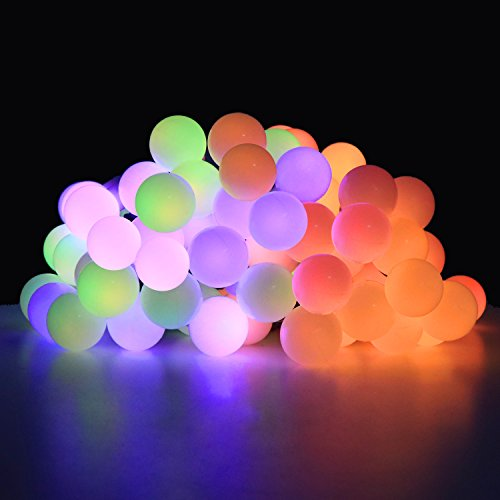OMGAI Ball Fairy Lights, 17Ft 60 LED Waterproof Color Changing Globe String Lights for Outdoor, Home, Garden, Patio, Wedding, Party, Fence, Christmas Tree Decoration (Bigger Ball)
