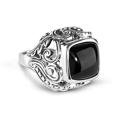 American West Sterling Silver Onyx Bold Ring ()