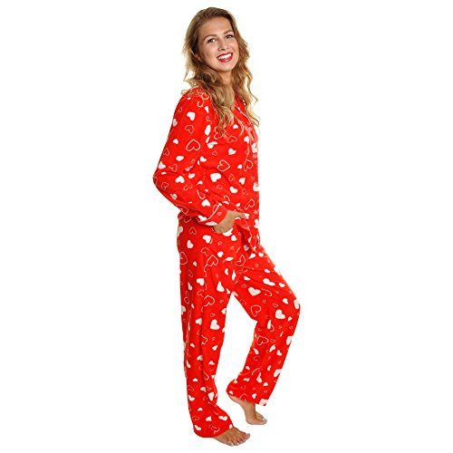 Angelina Cozy Pajama Set, 56_RW Hearts_4X-Large ()