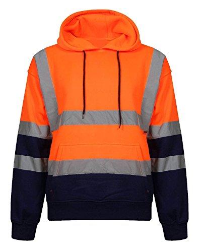 21fashion con Sudadera hombre de larga Auditor capucha manga anaranjada para 1F17rx