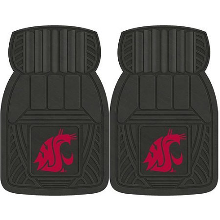 NCAA 4-Piece Front #36572612 and Rear #19888877 Heavy-Duty Vinyl Car Mat Set, Washington State University by Sports Licensing Solutions LLC