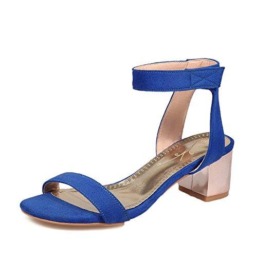 blauw sandalen hoge dames Synthetische teen hak Aalardom Tsmlg005313 jurk open BRwHvxxazq