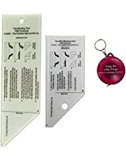 Binding Tool Templates in 2 Sizes and Mini Retractable Tape Measure-Bundle 3 Items