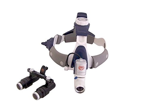 NSKI Dental 4.0X420mm Surgical Binocular Loupes FD-501K + 5W LED Headlight KD202A-7 Headband Stlye by Nski