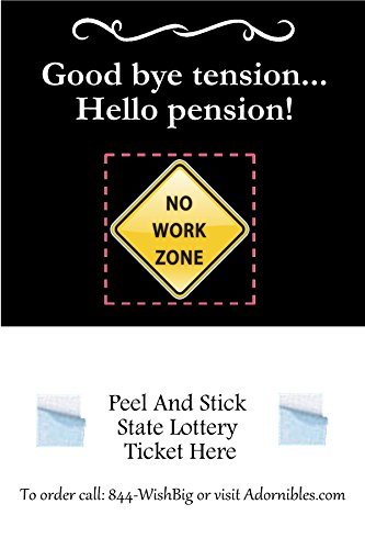 Exclusive Retirement Lottery Ticket Holder Favors Only At Adornibles (No Work Zone) Pack of 25