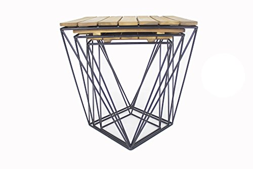 Heather Ann Creations W50150-NATB Kinney Nesting Tables, Wood/Iron by Heather Ann Creations