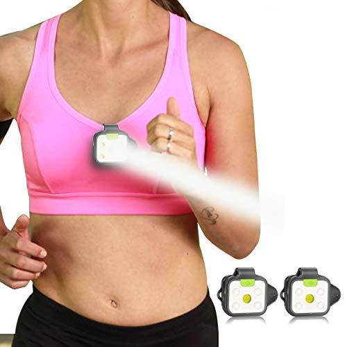 Running Light, HOKOILN 2Pack Reflective Running Gear for Runners, USB Rechargeable LED Light, Clip On Running Lights with Runners and Joggers for Camping, Hiking, Running, Jogging, Outdoor Adventure