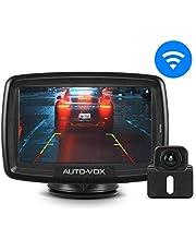 "AUTO-VOX CS-2 Digital Wireless Reversing Camera kit, Stable Signal Rear Camera, Super Night Vision Backup Camera and 4.3"" Rear View Monitor for Vans,Trucks,Camping Cars,RVs"