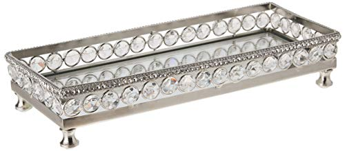 Heim Concept 72900 Tray with beaded crystals 10.9 x 4.2 x 3 inches